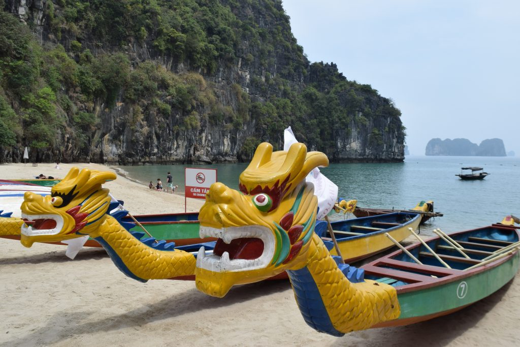 Dragon Boats on Halong Bay