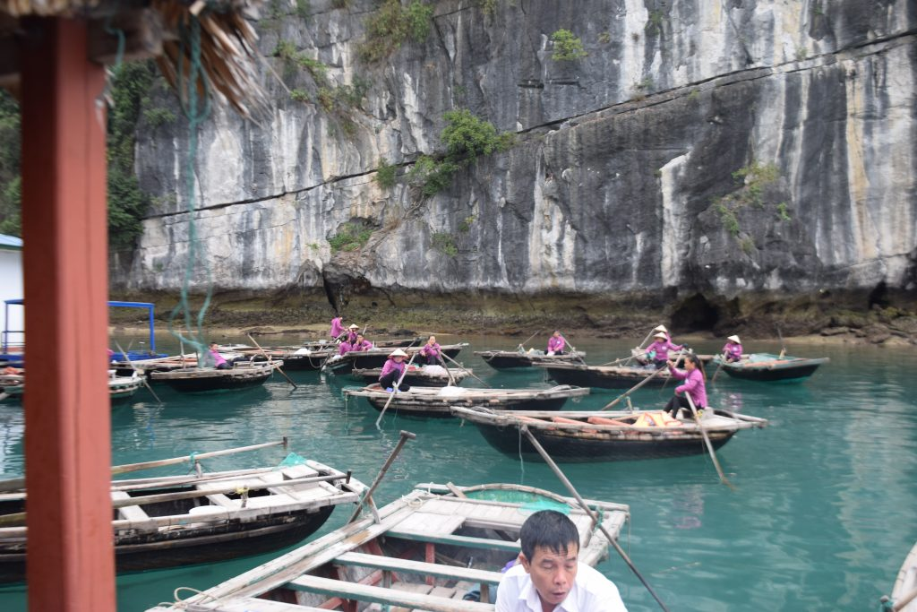 Local taxi workers in Halong Bay
