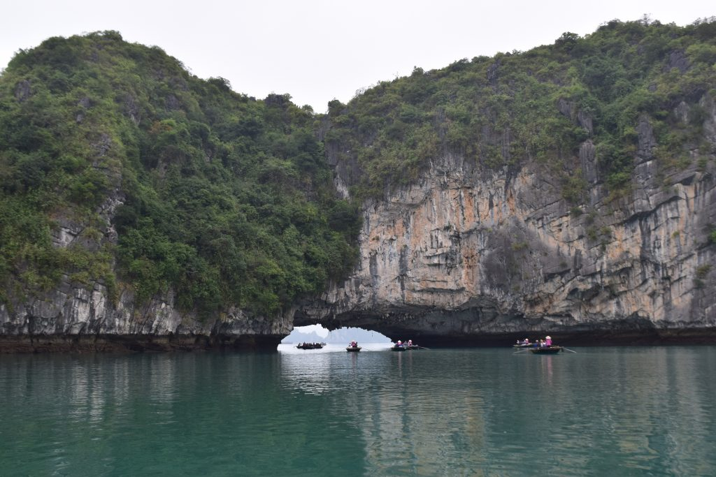 Floating in Halong Bay