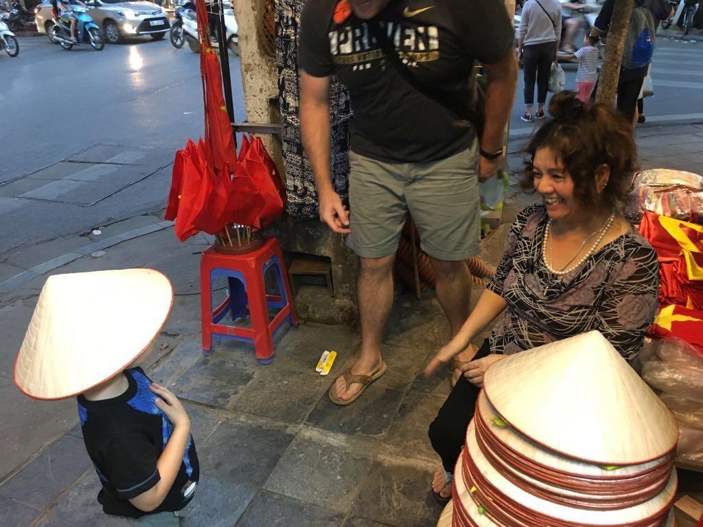 Buying souvenirs in Hanoi