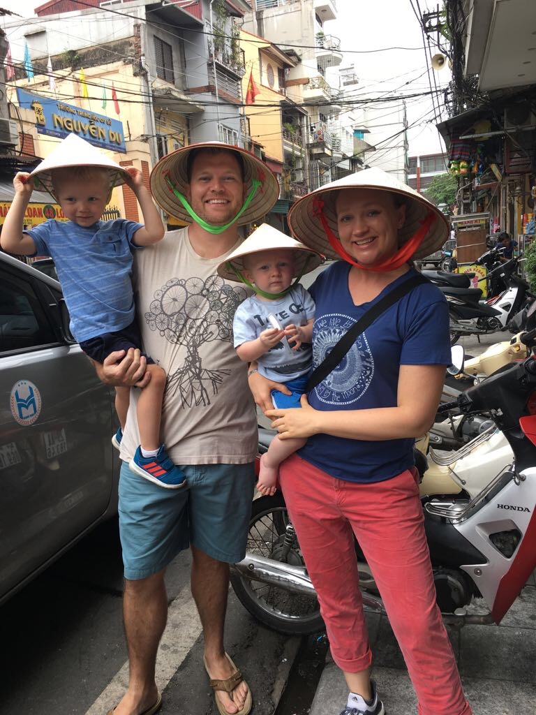 Conical souvenirs in Hanoi