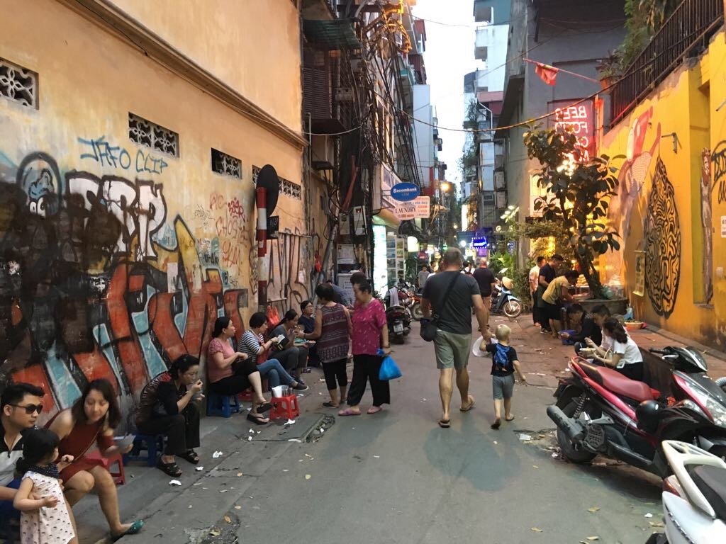 Dirty streets of Hanoi