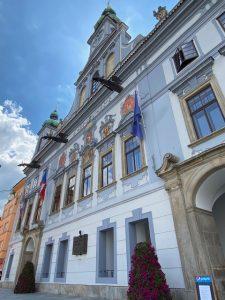 Baroque Town Hall Ceske Budejovice